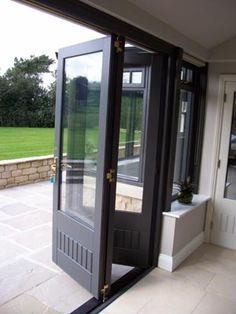 Folding doors out to patio
