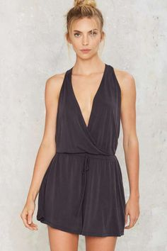 Touch Too Much Lounge Romper - Clothes