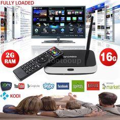 Smart TV Box XBMC Fully Loaded Android4.4 Quad Core 2G/16G WiFi Kodi MediaPlayer #UnbrandedGeneric