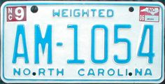 July 2003 North Carolina disabled veteran license plate. Description from plateshack.com. I searched for this on bing.com/images