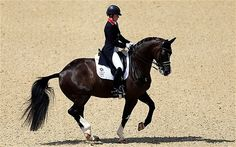 London 2012 Olympics: Charlotte Dujardin's record ride gives GB precious lead in team dressage