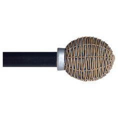 "Yorkshire Home Basket Weave Curtain Rod - Pewter (48-86"") : Target"