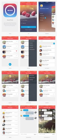 This is an app template that fits perfectly for different type of social apps. The pixel perfect designs will help you build an awesome and clever looking design for your app.