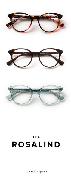 """Meet the Rosalind: our round glasses with a subtle cat eye, perfect for fall. 