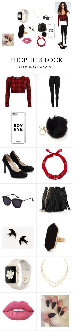 """""""SELENA GOMAZ😇😎"""" by deniseloveswag07 ❤ liked on Polyvore featuring New Look, Whistles, Jaeger, Lana and Lime Crime"""