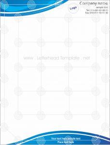 Green theme letterhead template Preview BLU