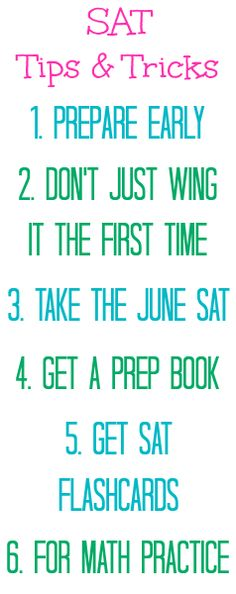 Tips on studying for SAT ?