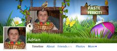 Easter Frame Facebook Covers | Silviubacky