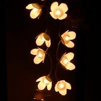 Egg box flower fairylight shades
