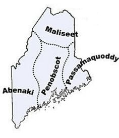 These are the original inhabitants of the area that is now Maine.  There are five federally recognized Indian tribes in Maine today: Aroostook Band of Micmacs, Passamaquoddy Tribe at Pleasant Point, Houlton Band of Maliseet Indians, Passamaquoddy Tribe of Indian Township, and Penobscot Nation.