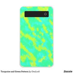 Turquoise and Green Pattern