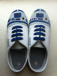 hand painted #R2D2 sneakers #StarWars