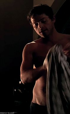 Misha Collins shirtless GIF - Meanwhile Misha Collins Castiel, Winchester Supernatural, Supernatural Funny, Winchester Boys, Supernatural Pictures, Supernatural Wallpaper, Misha Collins, Decimo Doctor, Fangirl
