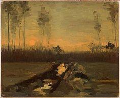 Paesaggio al tramonto  Vincent Van Gogh, 1885