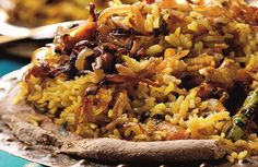 NAWABI BIRYANI A delicious Biryani that gets its name from the royal chefs of Hyderabad, it is made distinctive by the flavours of sultanas, mixed nuts and desiccated coconut. Sultana Recipe, Indian Food Recipes, Ethnic Recipes, Mixed Nuts, Biryani, Rice Dishes, Curries, Hyderabad, Rice Recipes