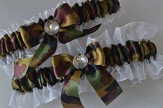 Wedding Garter Set Camo Garters  Camouflage And by ElegantGarters, $26.00