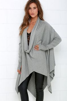 Willow in the Wind Grey Sweater Top