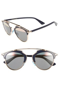 8202554118 Dior  So Real  48mm Sunglasses available at  Nordstrom Gold Sunglasses