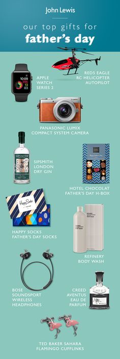 Discover thoughtful gifts this Father's Day at John Lewis. There are all types of dads out there, and they all deserve to be spoilt; whether he is a sports lovers, tech and gadget enthusiast or a classic gentlemen, we'll help you choose the perfect gift.