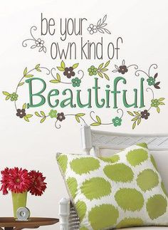 'Be Your Own Kind of Beautiful' Quote Wall Art <3