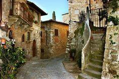 Medieval Village in Tuscany, around Siena