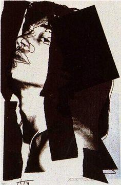'Mick Jagger', öl von Andy Warhol (1928-1987, United States)