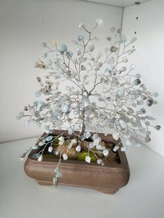 Aquamarine wire tree by sandrinasartistry on Etsy