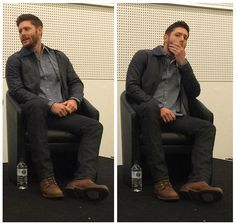 the shirt + jacket + jeans + shoes + all view [Jensen Ackles has the perfect style ever] #AHBL6