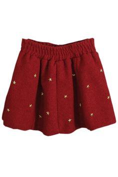 Star Embellishment A-line Skirt - OASAP.com