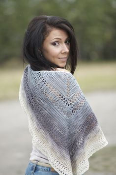 Crocheted Shawl Pattern - Neptune's Tears -  Finished Object