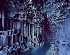Fingal's Cave (Scotland)  Although this cave on Staffa Island looks like it was…