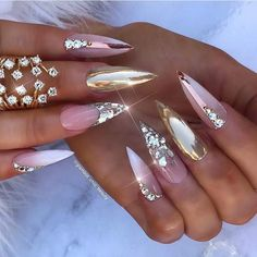 20 stunning lastest stiletto nail art ideas you'll love to try. Stiletto Nail Art, Acrylic Nails, Gel Nails, Manicure, Nail Polish, Coffin Nails, Beautiful Nail Designs, Beautiful Nail Art, Gorgeous Nails