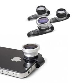 "~~Clip-on Fisheye Wide Angle Lens for iPhone / iPad in Black~~The iphone/ipad clip-on fisheye lens give a very simple way to get more ""likes"" on your pics you post. It can be used for iphone, ipad, or any device can be slip by a tiny lens. It can be easily unscrew from the apple device if you don't need them. Do you think it is a brilliant design?  http://www.mywanty.com/clip-on-fisheye-wide-angle-lens-for-iphone-ipad-in-black"