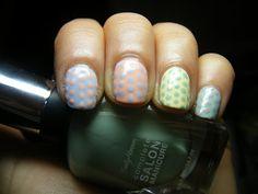 Miss Nail Polish: Pastel Polka Dots
