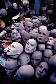 Heads. Paris Flea Market-- bit creepy, but totally awesome!