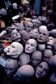 Heads. Paris Flea Market-- bit creepy, but totally awesome!
