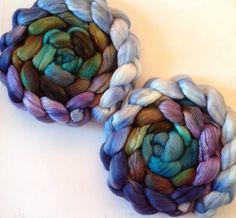 Scottish Landscape Hand Dyed roving 3.5ozs by FiberArtemis on Etsy