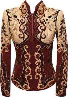 Burgundy, Gold, Tan & Black Jacket w/ Pants