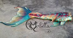 Merbella Studios Inc. - A tail Raven made for herself. I love this tail so much! I especially love the fluke, which is her Lunar Koi fluke design.