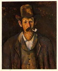 Paul Cezanne, Man Smoking A Pipe.