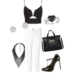 A fashion look from February 2015 featuring Zimmermann tops, ESCADA pants and Yves Saint Laurent pumps. Browse and shop related looks.