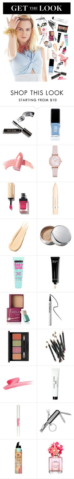 """Get the look"" by veliskovat on Polyvore featuring beauty, Bobbi Brown Cosmetics, JINsoon, Elizabeth Arden, Emporio Armani, L'Oréal Paris, Hourglass Cosmetics, Chantecaille, Maybelline and Benefit"