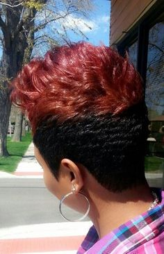 The Picasso of hair Chicago Dope Hairstyles, Cute Hairstyles For Short Hair, Short Hair Cuts, Relaxed Hairstyles, Amazing Hairstyles, Short Pixie, Hot Hair Styles, Natural Hair Styles, Short Curls