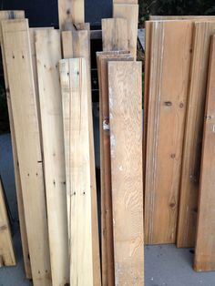 Pallets after they've been sanded