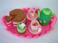 Felt food pattern tea time by fairyfox, via Flickr