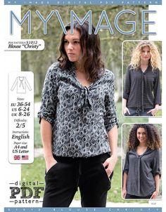 """free pattern - S1012 Bluse """"Christy"""""""