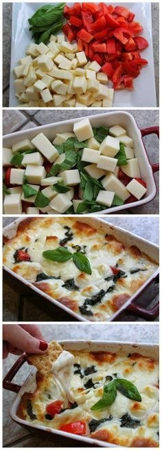 Hot Caprese Dip Recipe…I'm in! I like it cold & it is even better hot! Hot Caprese Dip Recipe…I'm in! I like it cold & it is even better hot! Yummy Appetizers, Appetizers For Party, Appetizer Recipes, Caprese Appetizer, Appetizer Ideas, Easy Party Dips, Fingerfood Recipes, Bunco Snacks, Caprese Salad Recipe