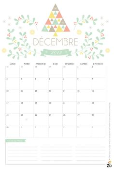 Free printable calendar December, 2012