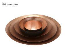 Eclectic by Tom Dixon Copper Form bowls
