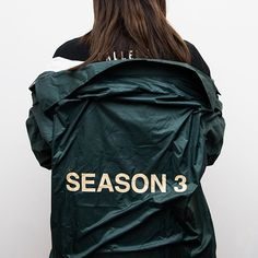 A closer look at the invitation jacket for Kanye West's YEEZY Season 3 fashion show.